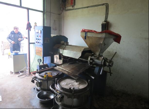 河南温县100型榨油机用户